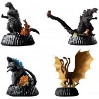 M1-36069 HG High Grade D+ Godzilla 01 Mini Figure Diorama Capsule Vol. 01 500y - Set of 4