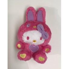 SR-00014 Sanrio Hello Kitty Pink Bunny Ears Mini Plush with Ball Chain Keychain