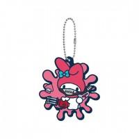 SR-29413 Splatoon 2 X Sanrio Characters Capsule Rubber Mascot 300y - My Melody