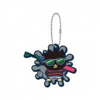 SR-29413 Splatoon 2 X Sanrio Characters Capsule Rubber Mascot 300y - Badtz-Maru