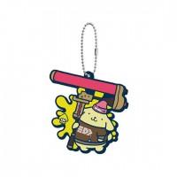 SR-29413 Splatoon 2 X Sanrio Characters Capsule Rubber Mascot 300y - Pom Pom Purin