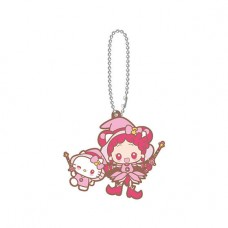 SR-51545 Ojomajo Magical DoReMi X Sanrio Character Special Capsule Rubber Mascot 300y - Hello Kitty & Doremi Harukaze