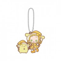 SR-51545 Ojomajo Magical DoReMi X Sanrio Character Special Capsule Rubber Mascot 300y - Pom Pom Purin & Momoko Asuka