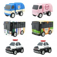 SR-60358 F-Toys Real working Pull Back Car Collection
