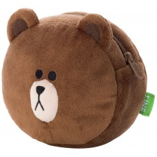 SR-28026 Line Character Face Pouch - Brown / 02 1200y