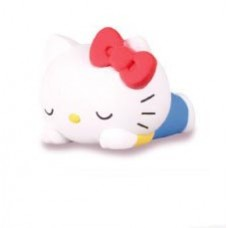 SR-86160 Takara TOMY A.R.T.S Sanrio Characters Oyasumi (Good Night) Mascot 200y - Hello Kitty