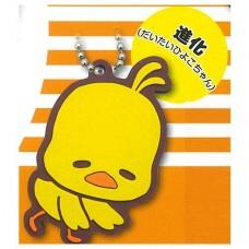 SR-87686 Gudetama x Chicken Ramen Hiyoko-Chan Chick Chan Capsule Rubber Mascot 300y - Evolution Almost Hiyoko-chan