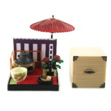 SR-64180 Wa no Takumi Tea Room Mini Furniture Trading Figure - Outdoor Backdrop -