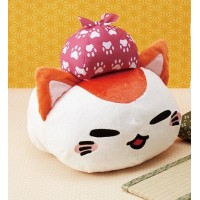 AMU-PRZ10097 Nemu Neko Tabi Saseyo Journey Version Plush - Red Version