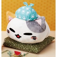 AMU-PRZ10097 Nemu Neko Tabi Saseyo Journey Version Plush - Blue Version