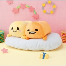 AMU-PRZ9142 Furyu Sanrio Gudetama and Gyudechama  Big Plush Doll