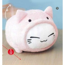 AMU-PRZ7344b Nemu Neko Tori Big Plush - Pink