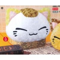 AMU-PRZ7454a NemuNeko / Cha NemuNeko Rose Boa Big Plush - White