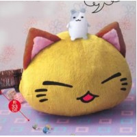 AMU-PRZ7455a NemuNeko Nikori / hamster Big Plush -  Yellow