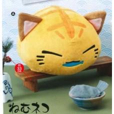 AMU-PRZ7702a Nemu Neko DX Plush Tora Osakana Version - Yellow
