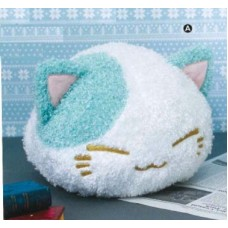 AMU-PRZ7703a Nemu Neko DX Plush Winter Color Fluffy Version - White / Teal